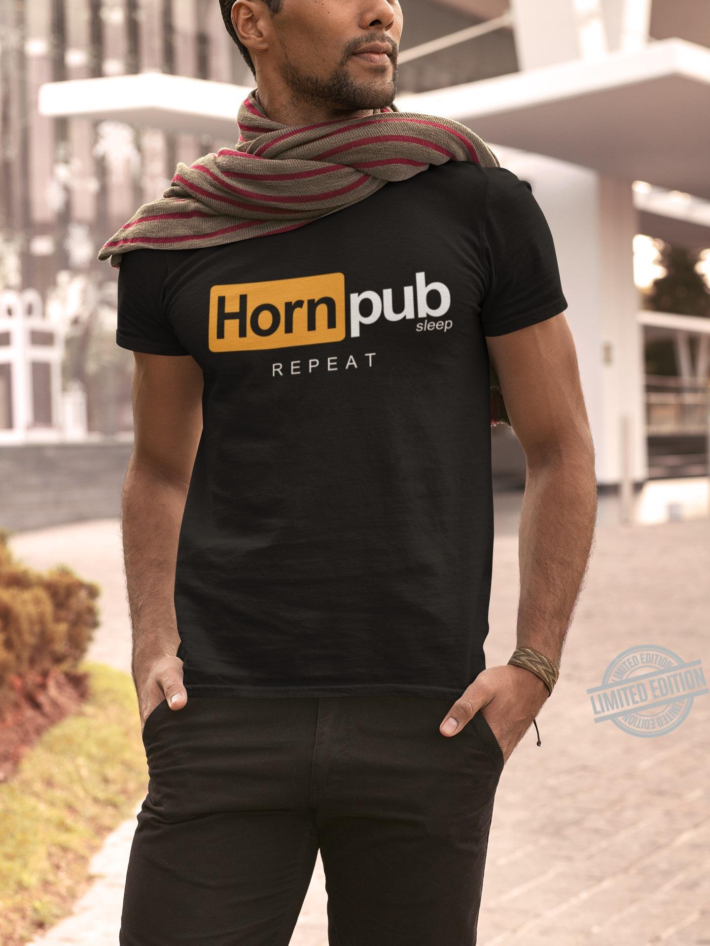 Horn Pub Sleep Repeat Shirt