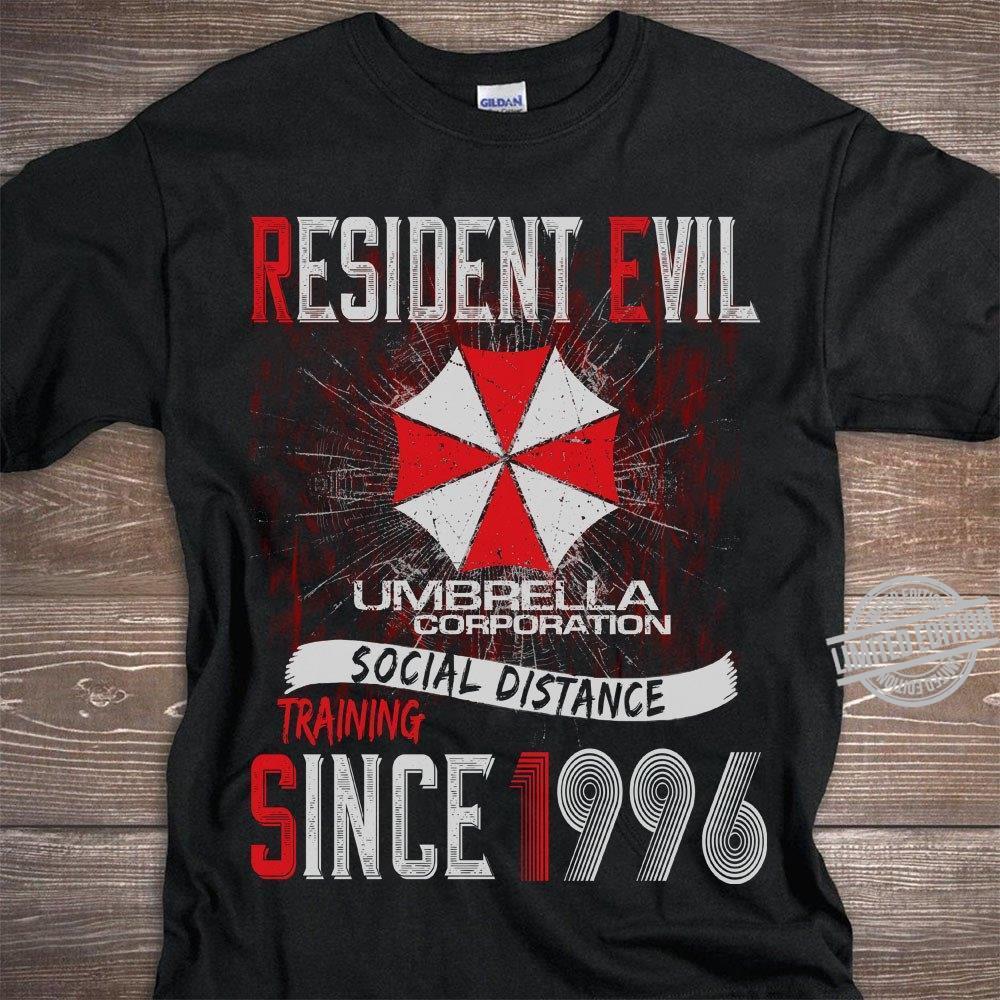 Resident Evil Umbrella Corporation Social Distance Training Since 1996 Shirt